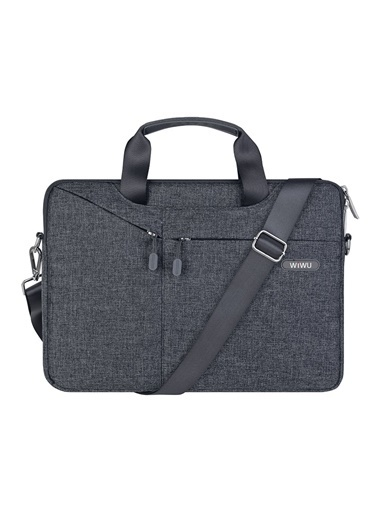 Wiwu Wiwu MacBook Pro Air Retina 13.3 inç Çanta Kılıf Koruma Laptop Notebook Omuz Askılı Su Gecirmez Gri